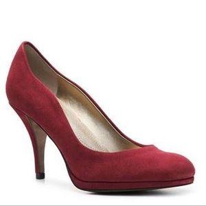 Tahari Colette Red Suede Heels